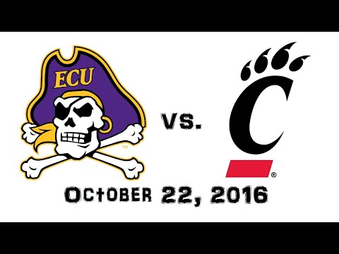 October 22, 2016 - East Carolina Pirates vs. Cincinnati Bearcats Full Football Game 60fps