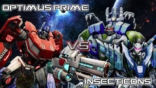Optimus Prime vs Insecticons - Transformers Fall of Cybertron