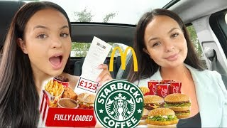 LETTING THE PERSON IN FRONT OF ME DECIDE WHAT I EAT FOR  24 HOURS - AYSE AND ZELIHA