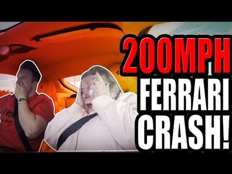 CRASHED A FERRARI  **PRANK!** (£400k)