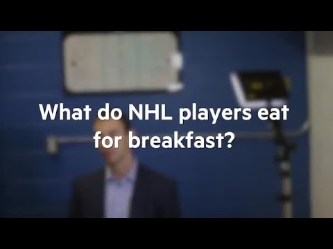 What do NHL players eat for breakfast?
