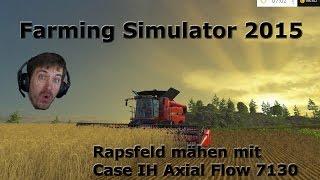 farming simulator 2015 rapsfeld ernten mit case ih axial flow 7130
