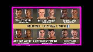 Breaking News   #EFC71 Super Fight sees Van Zyl take on Lungiambula   IOL Sport