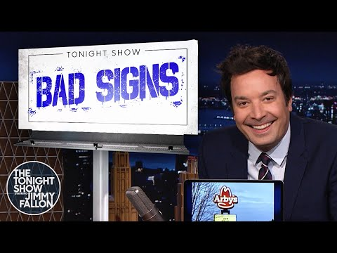 BadSigns: Arby's Now Hiring Anybody, Chadonnay   The Tonight Show Starring Jimmy Fallon