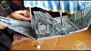 Cara membuat miniatur perahu dari koran bekas