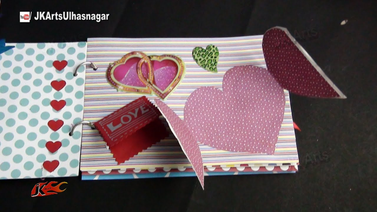 How to scrapbook at home - Diy Scrapbook Tutorial Valentine S Day Gift Idea How To Make A Scrapbook Jk Arts 861