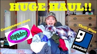 HUGE THRIFT AND CONSIGNMENT STORE HAUL!!