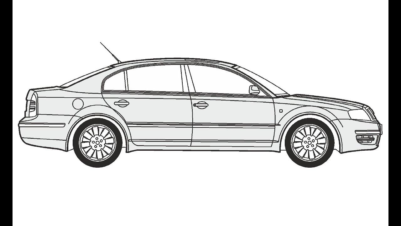 How to Draw a Skoda Superb / Как нарисовать Skoda Superb