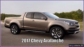 Chevy Avalanche 2017 Interior, Exterior, Price And Release Date