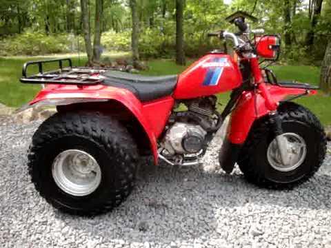 1983 honda big red 200 4 sale on ebay 6 18 2009 youtube for Yamaha 200e 3 wheeler