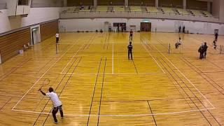 滋賀県東近江市インドアソフトテニス2017 準決勝 米田中野ー寺島江南