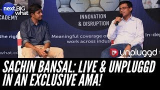 """Sachin Bansal: """"Amazon Sounds Like A Big Threat But..."""" (Exclusive AMA at UnPluggd Conf 2019!)"""