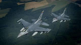 Dny NATO 2018 - letecké záběry F-16 (USA)