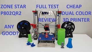 ZoneStar Dual Extruder 3D Printer Full Review! Any Good?