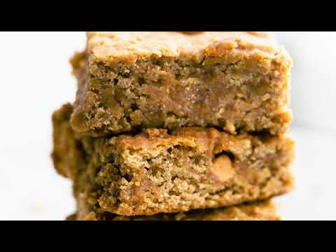 Chickpea-Pecan Blondies