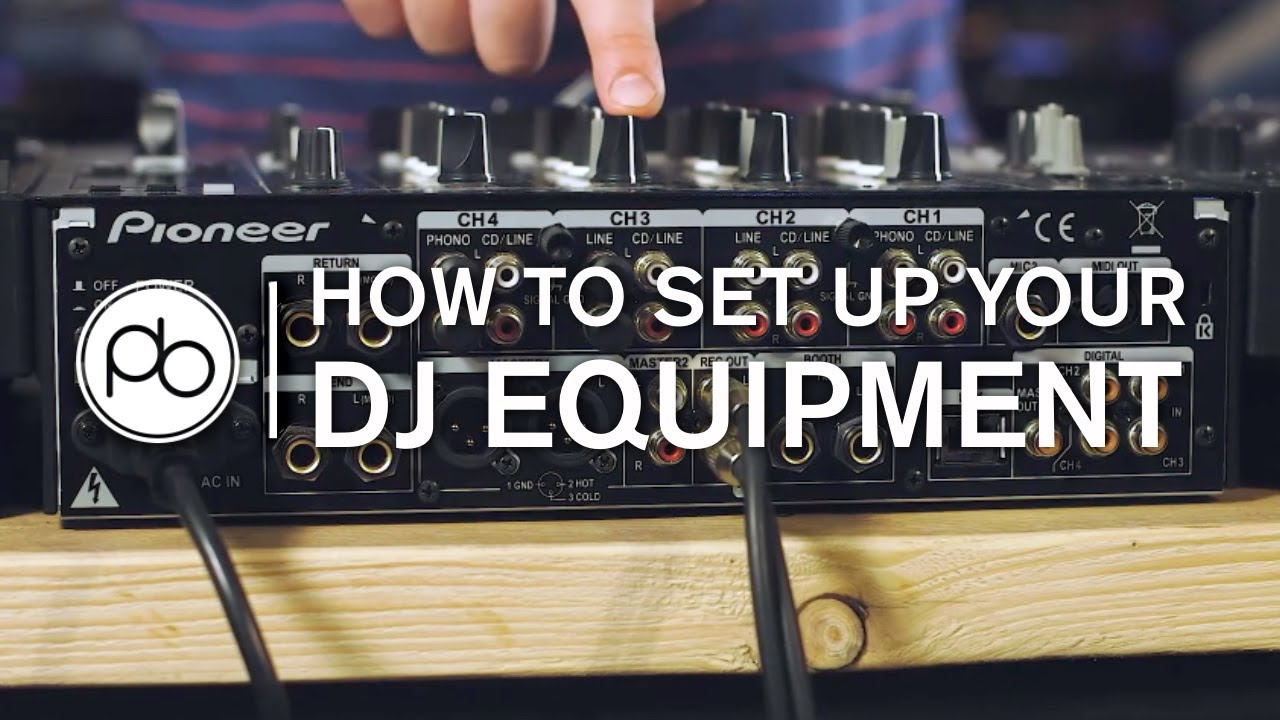 how to set up your dj equipment youtube rh youtube com