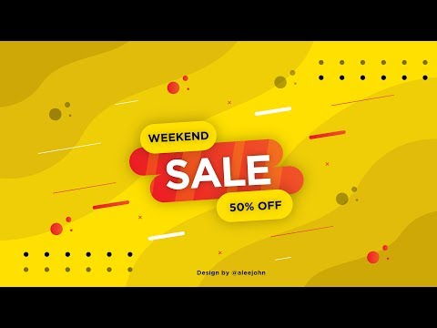 Weekend Sale Offer Graphics | Stock Vector | Illustrator Tutorials | TL thumbnail