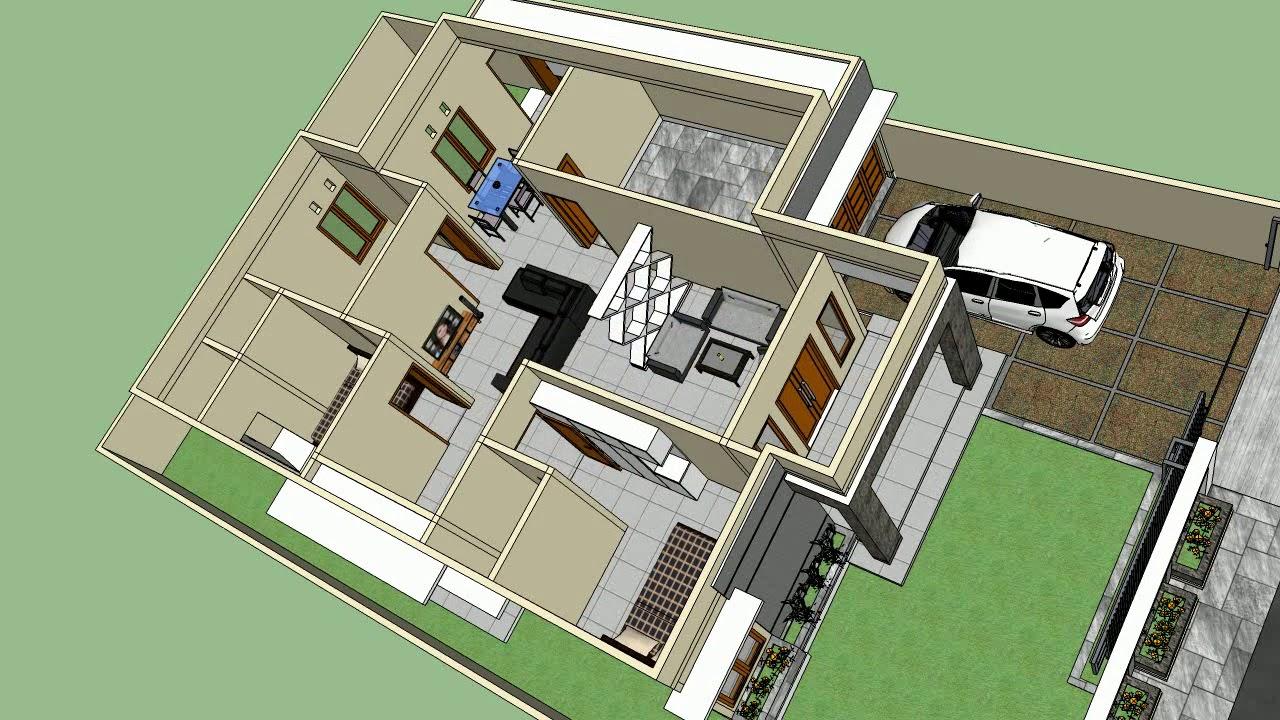 Desain Rumah 5 Kamar Tidur 1 Lantai