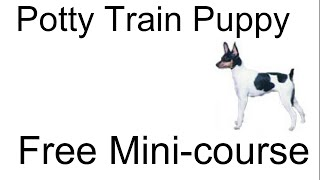 **woot** Ehow Potty Train Puppy-  Free Mini-course On Ehow Potty Train Puppy