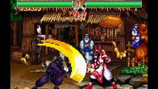 Samurai Shodown 2 [PS1] - play as Kuroko in Story Mode