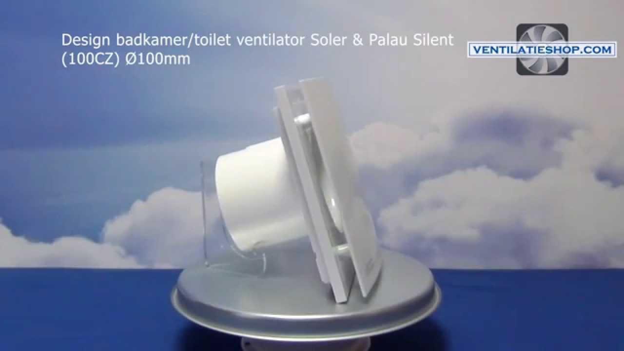 Design badkamer/toilet ventilator, Soler & Palau Silent (100CZ ...