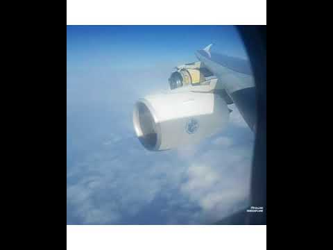 AIRBUS A380 ENGINE BLOWS UP!! UNCONTAINED ENGINE FAILURE