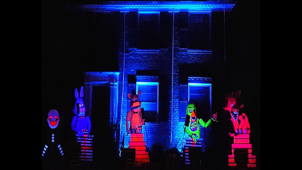 best halloween light show five nights at freddys its me by tryhardninja youtube