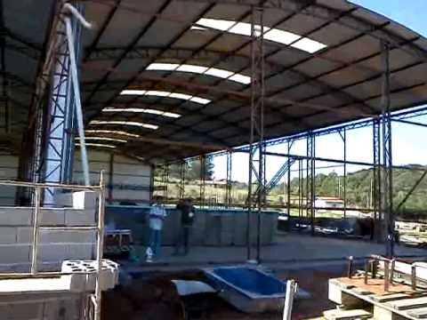 Nova fabrica da gm fibras youtube for Fabrica de piscinas de fibra