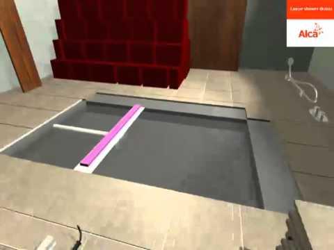 bodengleiche dusche einfache duschtassen montage mit. Black Bedroom Furniture Sets. Home Design Ideas