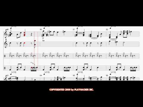 Maniac Monday in HD by The Bangles - Sheet Music - MIDI