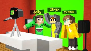 BEHIND The SCENES OF JELLY, SLOGO AND CRAINER! (Minecraft)