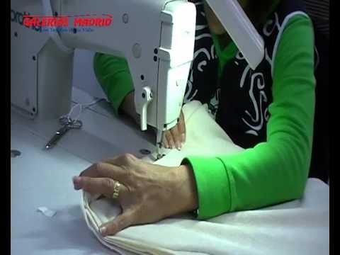 Como hacer un cojín con cordón. Galerias Madrid   YouTube