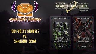 Mecha Melee: Spooktober Skirmish - DD6-SOLES GANNELE vs. SANGUINE CROW - Garrison Archangel