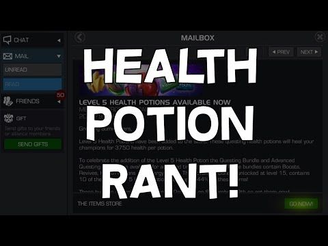 Health Potion Rant! - Level 5 Potions Added To The Game - Marvel Contest Of Champions