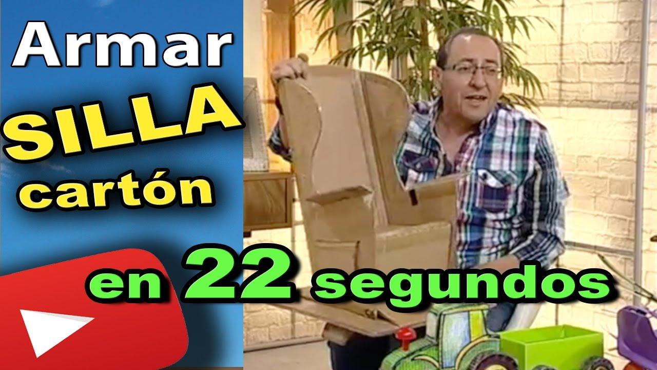 Como Hacer | Armar una silla de cartón en 22 segundos (directo tv ...