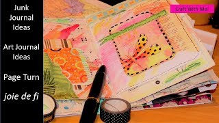Junk Journal Ideas | Art Journal Ideas | Page Turn Easy Journal