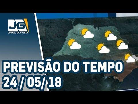 Previsão do Tempo -  24/05/2018