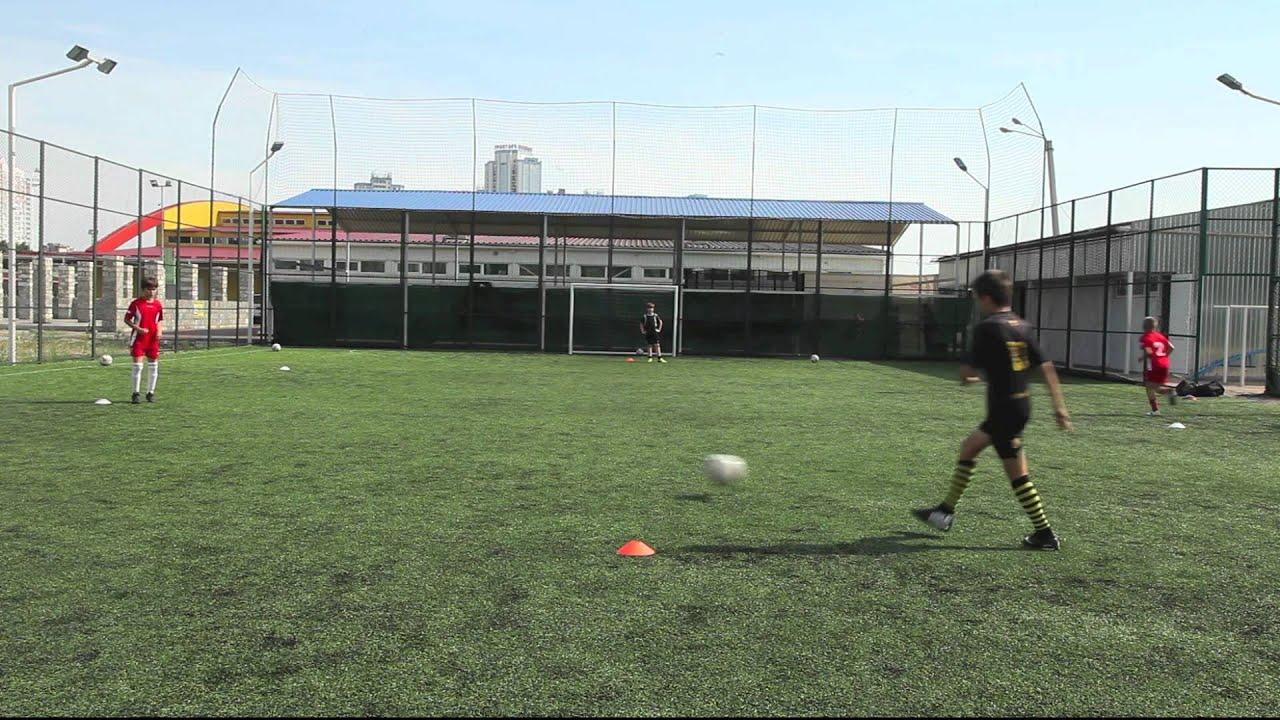 Тренировка пасов футбол