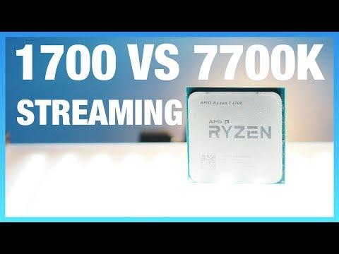 R7 1700 vs. i7-7700K Game Streaming Benchmarks