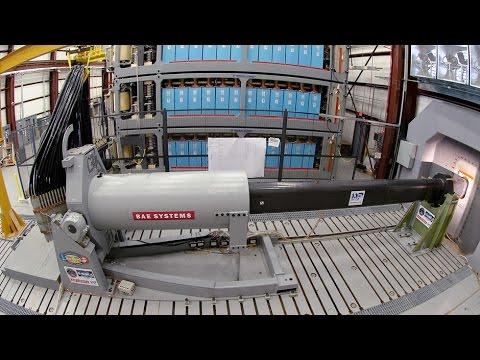 BAE Systems Electromagnetic Railgun Testing