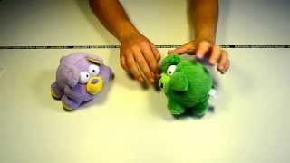 """Идеи подарков: Мягкая игрушка Медведь (Свинка) """"Хохотун"""", со звуком (видео обзор)"""