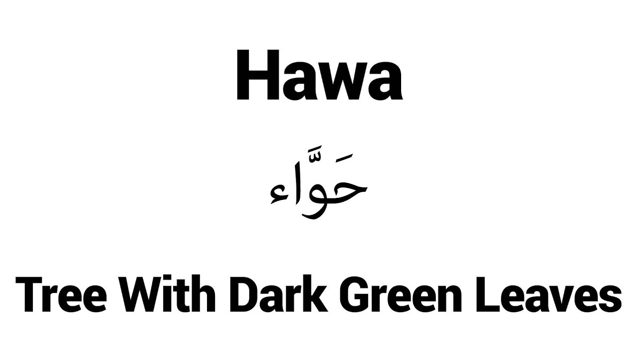 Hawa - Islamic Name Meaning - Baby Names for Muslims