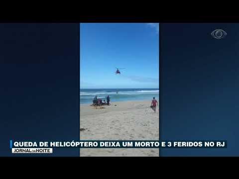 RJ: Queda De Helicóptero Deixa Um Morto E Três Feridos