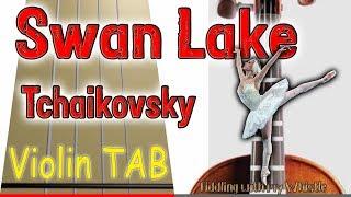 Swan Lake - Tchaikovsky - Violin - Play Along Tab Tutorial