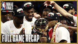 RAPTORS vs WARRIORS | Toronto Wins First NBA Championship! | NBA Finals Game 6