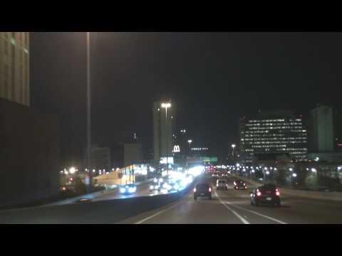Downtown Houston Freeways At Night