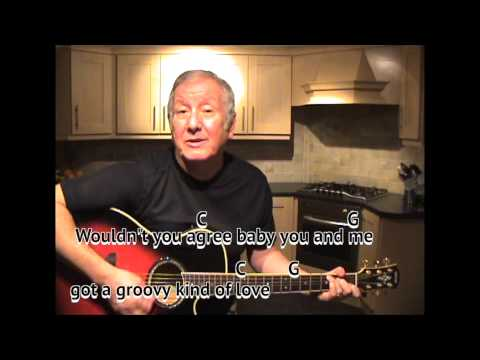 A Groovy Kind of Love - Phil Collins - cover - easy chords guitar lesson on-screen chords and lyrics