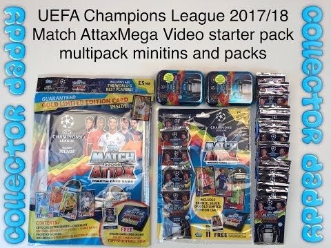 UEFA Champions League 2017/18 Match Attax Mega Video Starter Pack Multipack mini-tins And Packs