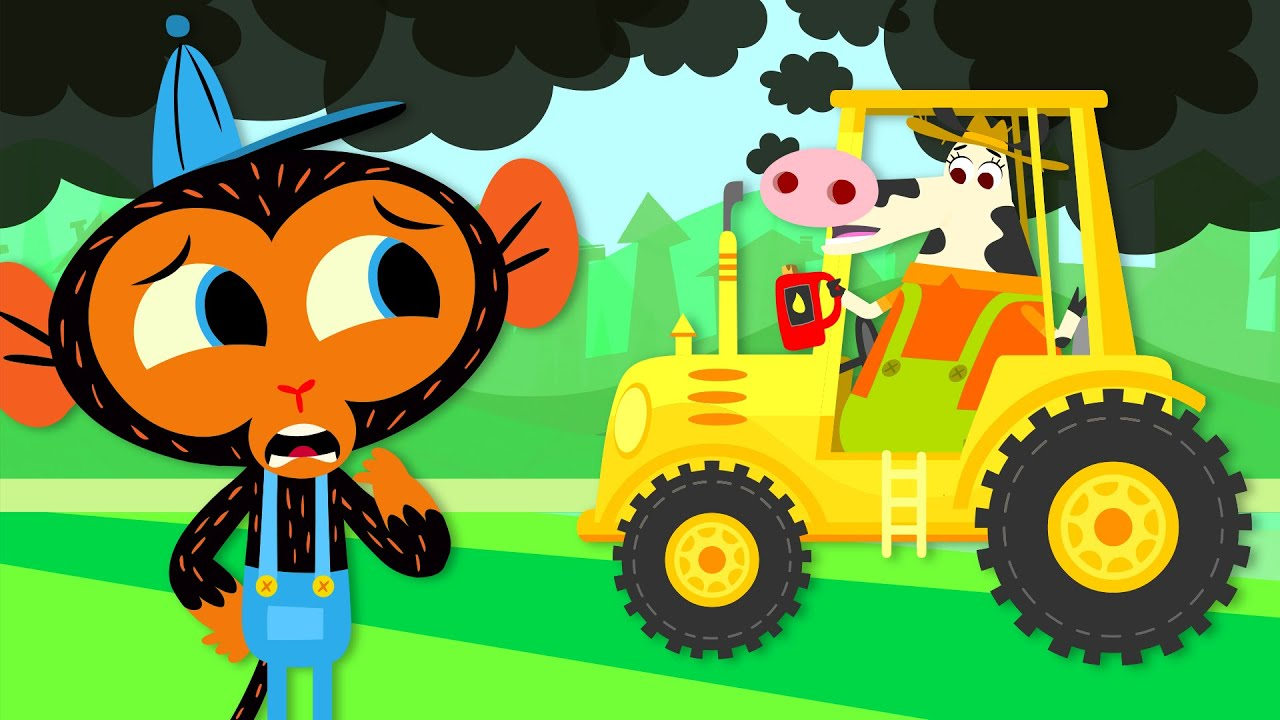 Oh No! Miss Cow's Tractor Is Polluting the Environment