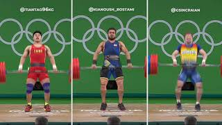 Rio Olympics 2016 | 3 lifters @ 217kg Clean and Jerk | 85kg bw